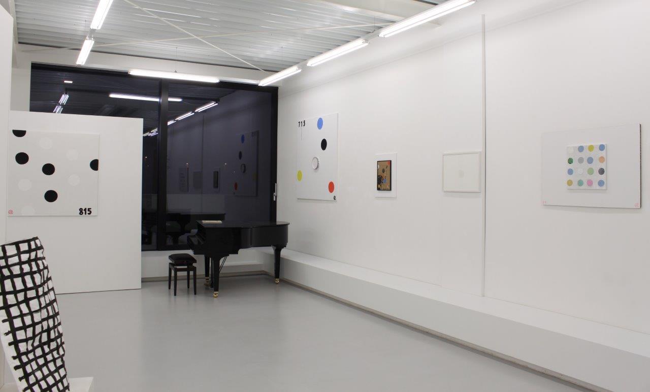 Achim Freyer und Moritz Nitsche, Auf den Punkt. , Ausstellungsansicht Brunnhofer Galerie, 2016