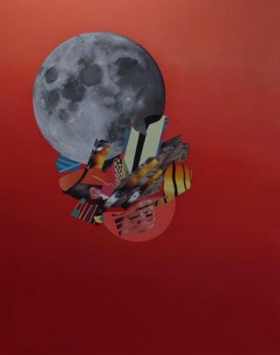 "Jennifer Nehrbass, ""We are the Asteroid"", Öl auf Leinwand, 213x168 cm, 2015"