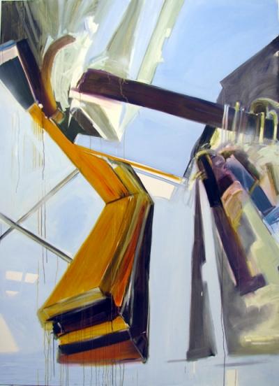 "Yvette Gellis, ""Breaking Point, Gold"" - 2010 Öl/Leinwand 284,5 x 208,3 cm"