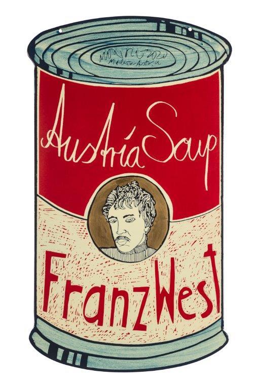 """Moritz Götze, aus der Serie """"Austria Soup"""", 2020, Emaille, 60x45cm"""
