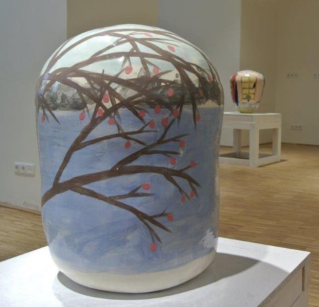 Oktavia Schreiner, Der köstliche Geschmack verloren zu gehen, Keramik, 40 x 40 x 58 cm