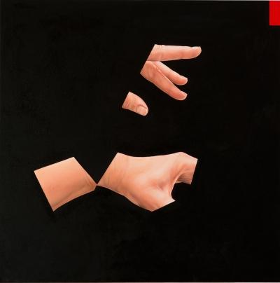 "Jennifer Nehrbass, ""The Conductor"", Öl auf Leinwand, 96,5x96,5 cm, 2015"