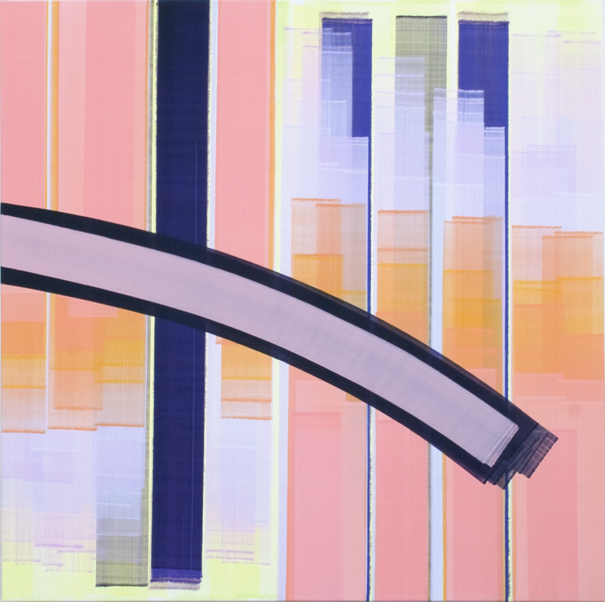 Elisabeth Sonneck, dia move3/2, 2019, Öl auf Leinwand, 145 x 145 cm