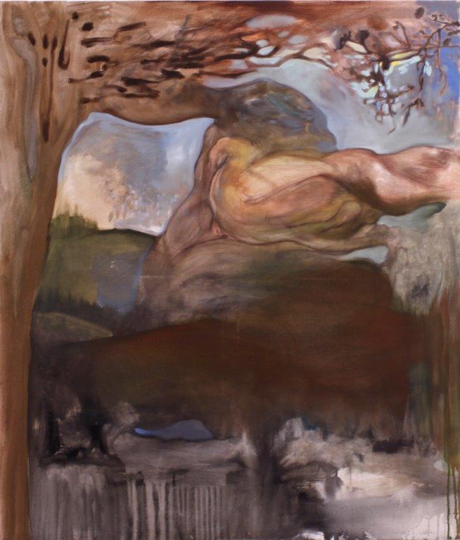 Max Böhme, Ohne Titel, 2018, Öl auf Leinwand, 140 x 120 cm