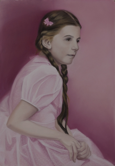 Diana Rattray, In The Pink, Pastell, 86 x 60 cm
