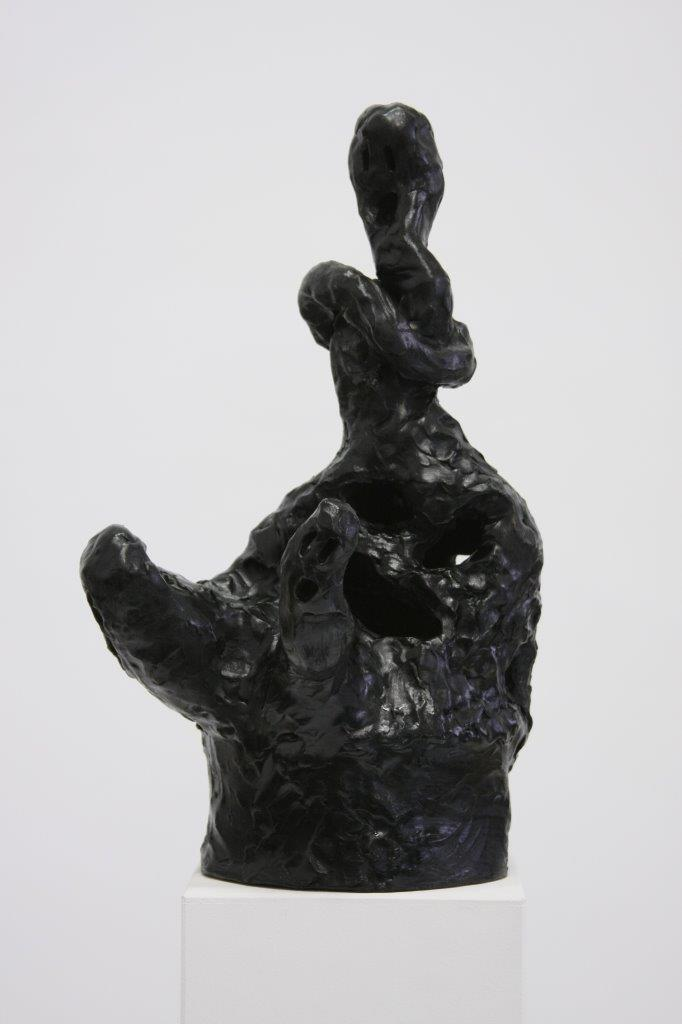 """Ronald Kodritsch, """"schwarze Geister, Knotenhalskopfgeist"""", Ton, 2019,"""