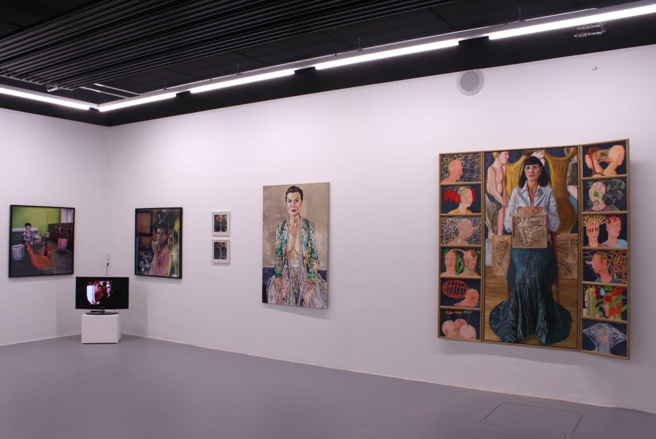 Irene Andessner, Collaborations I.A., Ausstellungsansicht Brunnhofer Galerie, 2018