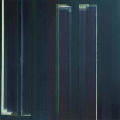 Elisabeth Sonneck, antiphon Schwarzlicht3 / 3 – Öl auf Leinwand, 145 x 145 cm, 2011-12