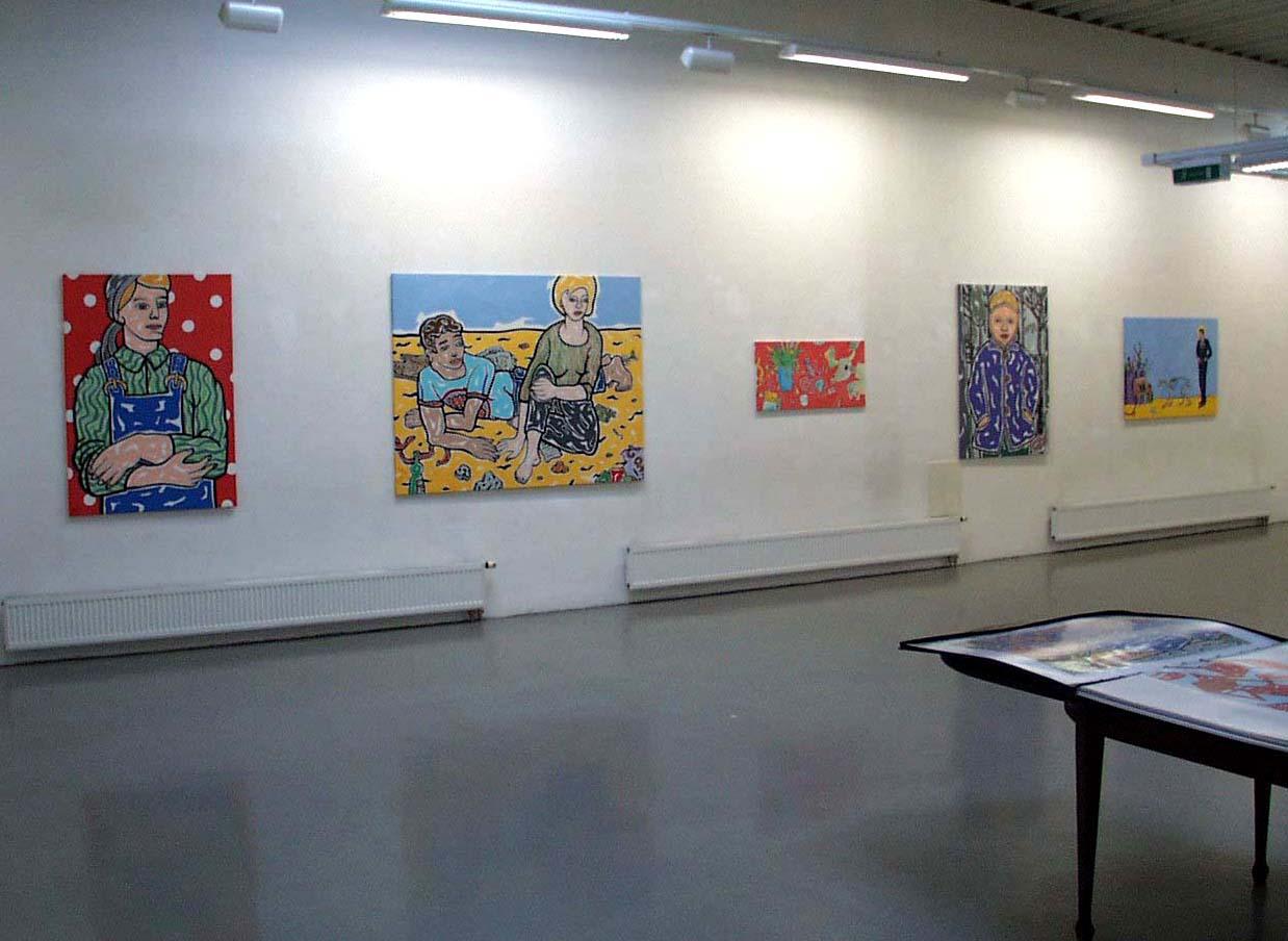 Moritz Götze, Stabile Werte, Ausstellungsansicht, Brunnhofer Galerie, 2004