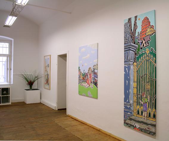 Moritz Götze, Goldrausch, Ausstellungsansicht Brunnhofer Galerie, 2012