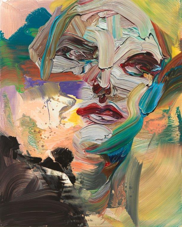 """""""Miss Impasto"""", 150 x 120 cm, 2019, Öl und Mischtechnik auf Leinen"""