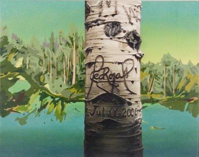 "Jennifer Nehrbass, ""Red Rojas"", Öl auf Leinwand, 56x71cm, 2011"