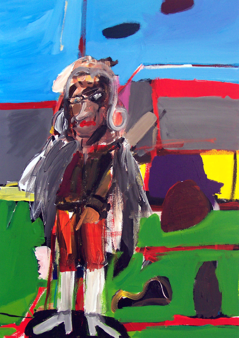 Oliver Kropf, DENKMAL 5, 70 x 100 cm, Acryl auf Baumwolle 2019