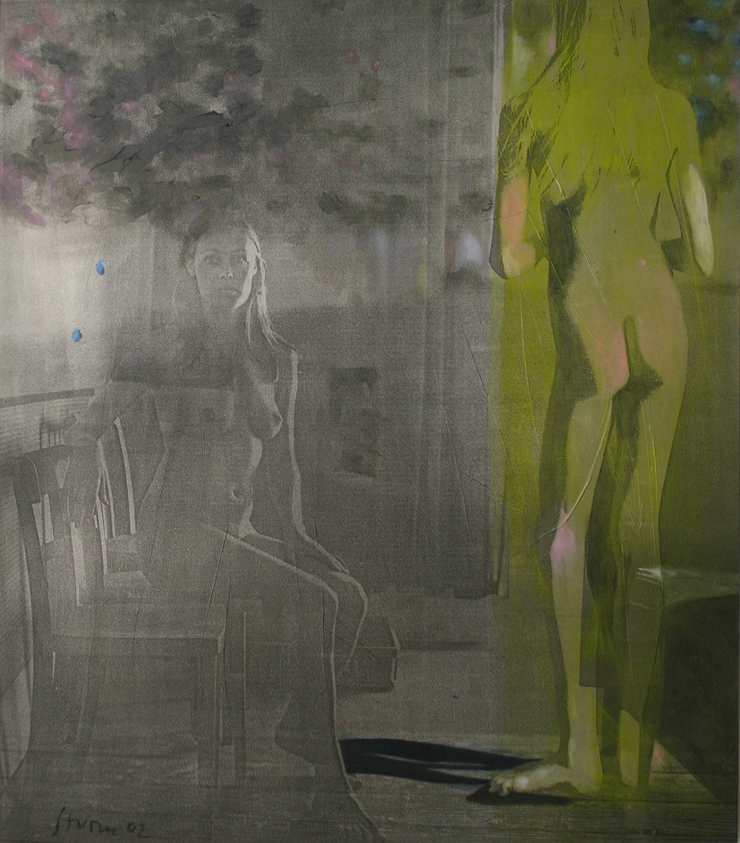 "Thomas Sturm ""Queens"" - 2002 acrylic, inkjet on canvas 120x133cm"