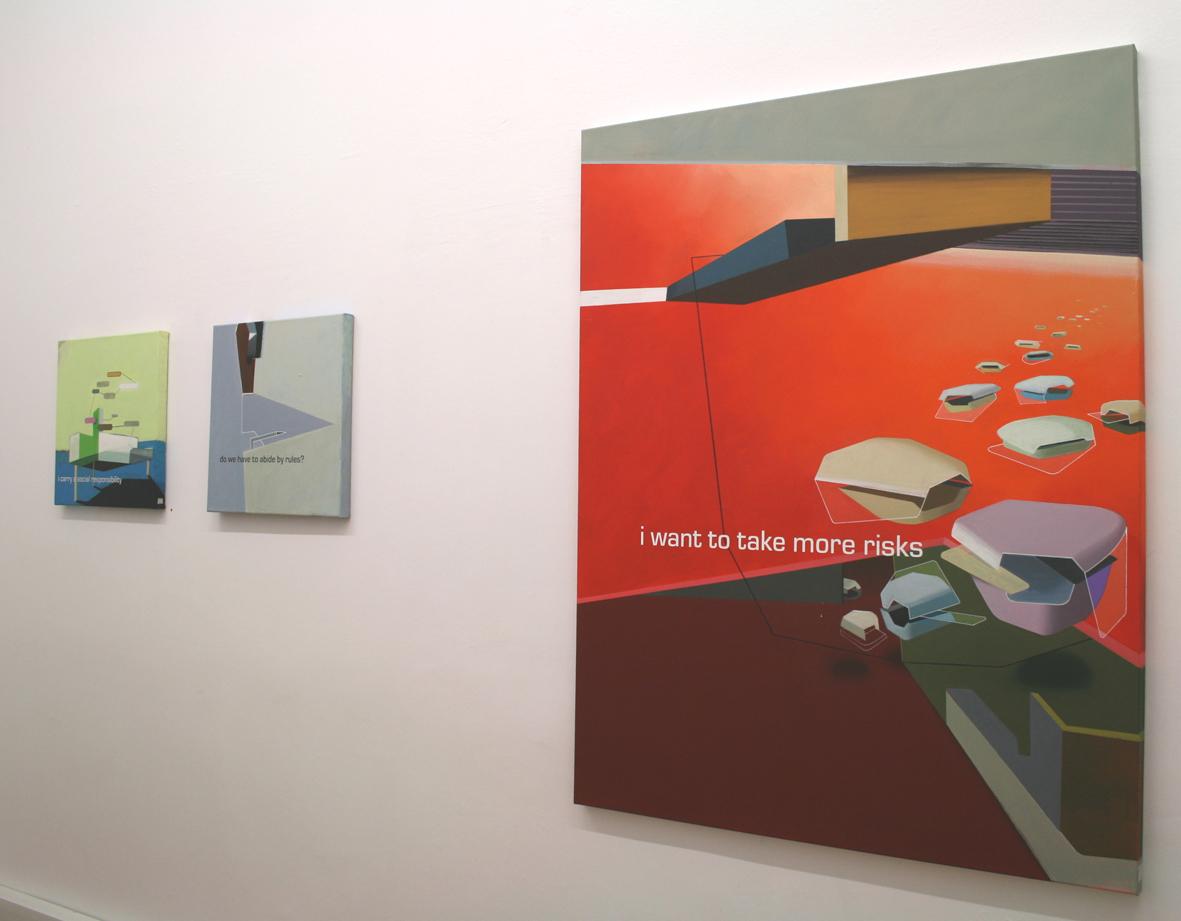 """""""Visioning"""", Lucia Dellefant, Ausstellungsansicht Brunnhofer Galerie, 2009"""