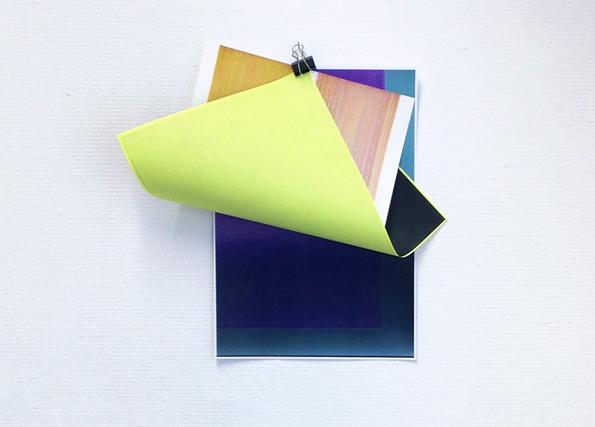 Elisabeth Sonneck, clipage #17-5.1 (variabel) | Gouache auf Papier, 23 x 31 cm, SW-Kopie (Öl auf Pergament) Din A3, Farbkopie (Öl auf Pergament) Din A3, foldback clip, 2017