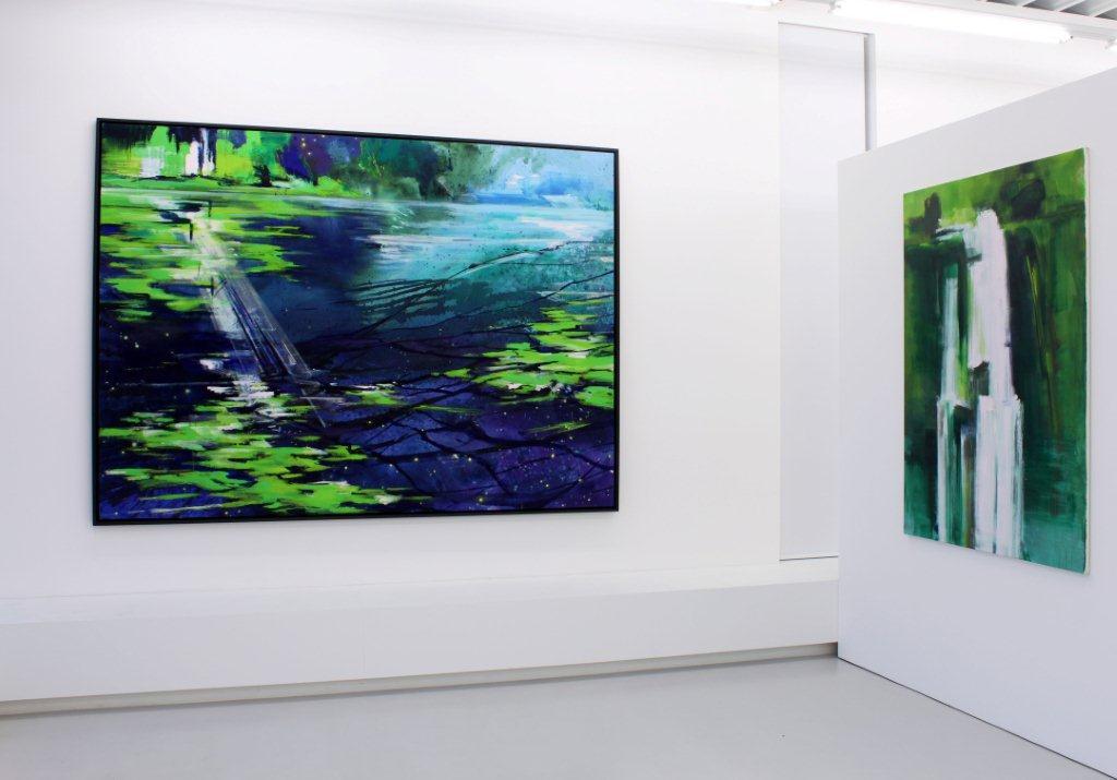 Bernd Zimmer, Zweite Natur: Malerei, Ausstellungsansicht Brunnhofer Galerie