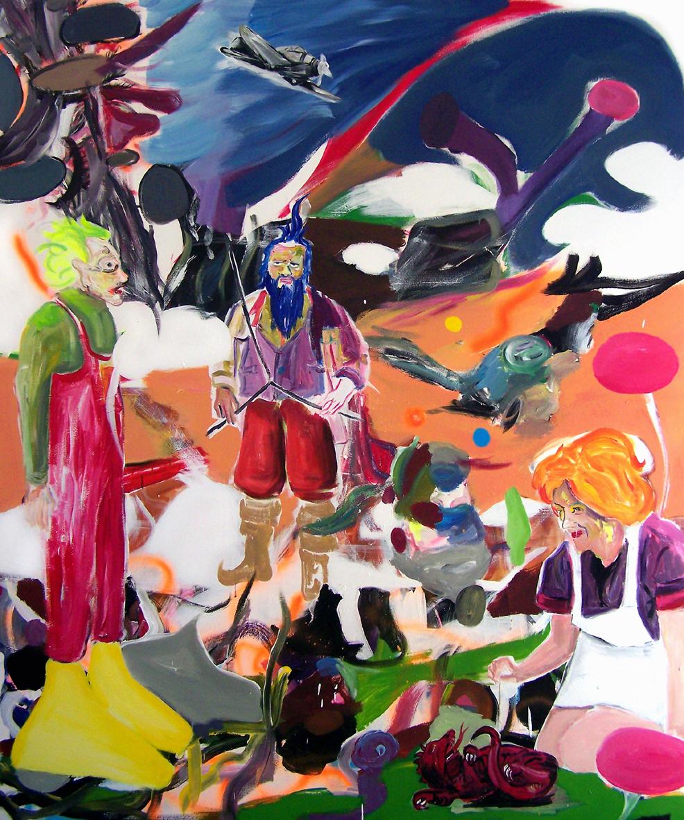 """Oliver Kropf, """"021"""" 180 x 150 cm, Acryl auf Baumwolle, 2020"""
