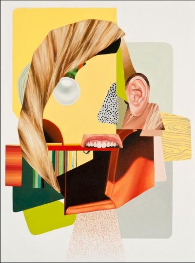 "Jennifer Nehrbass, ""Sydney's Bite"", Öl auf Leinwand, 40,6x30,5 cm, 2016"