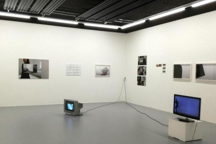 """exhibition view, """"tempo"""", Elisa Andessner + Eva-Maria Raab"""