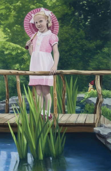 Diana Rattray, Two in An English Garden, 2014, Pastell, 117 x 77 cm
