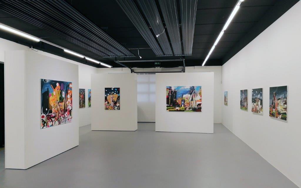 Oliver Kropf, Ausstellungsanischt, Brunnhofer Galerie, 2020