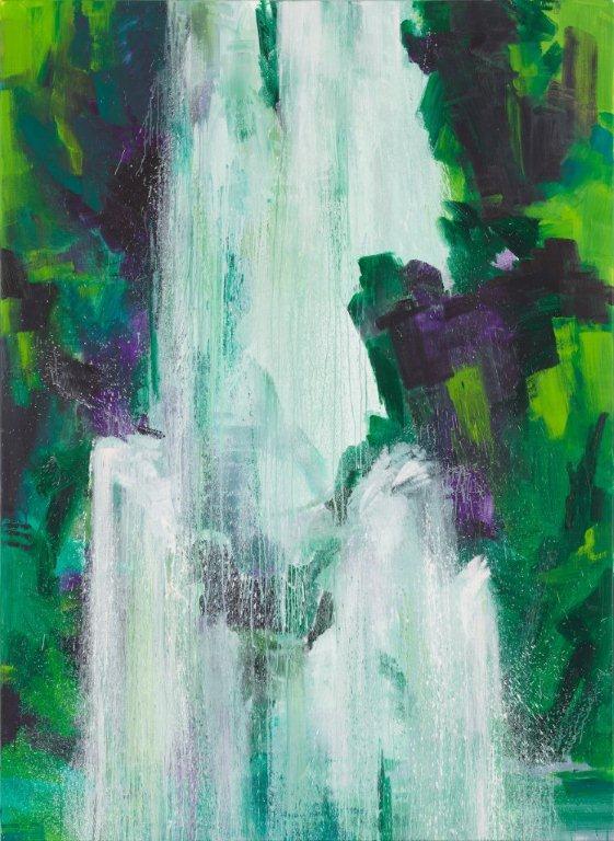 Bernd Zimmer, Drachenschlucht. Wasserfall, 2011 | Acryl/Leinwand | 260 x 190 cm WVZ 2266
