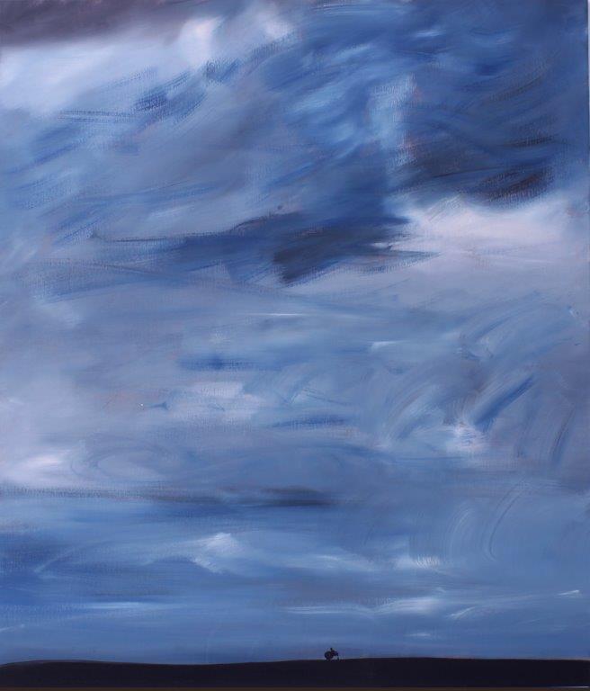 """Ronald Kodritsch, """"Stanley Road"""", 2017, Öl auf Leinwand, 105 x 90cm"""