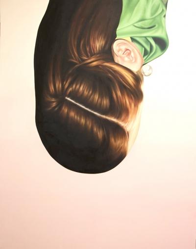 "Jennifer Nehrbass, ""Redhead"", Öl auf Leinwand, 213x168 cm, 2015"