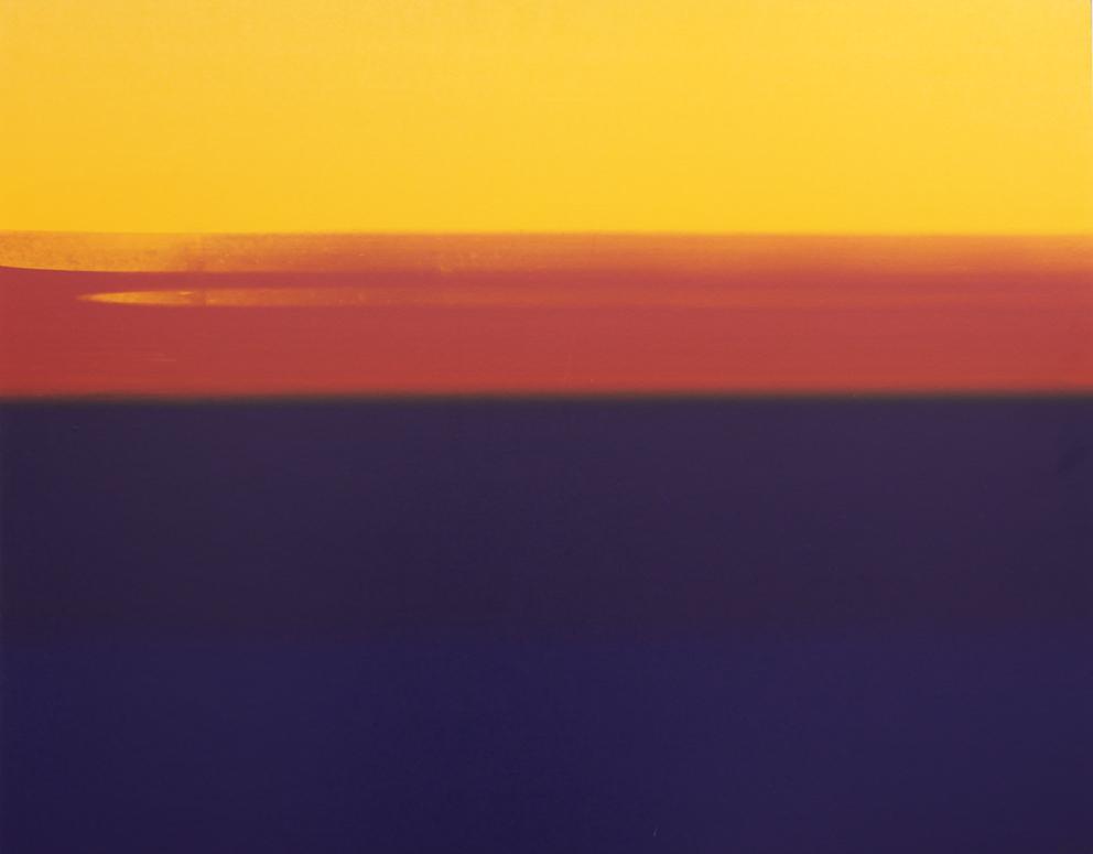 Thomas Redl, ohne Titel, 80 x 100 cm, Siebdruckfarbe auf Papier auf Polystyrol