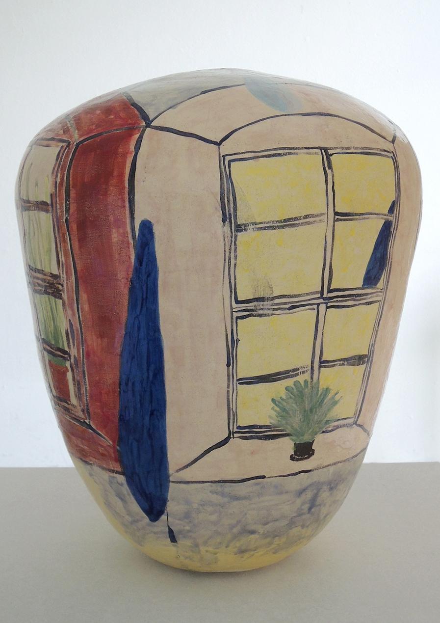 """Oktavia Schreiner, """"Das Aleph 2"""", Keramik, 45 x 45 x 54 cm"""