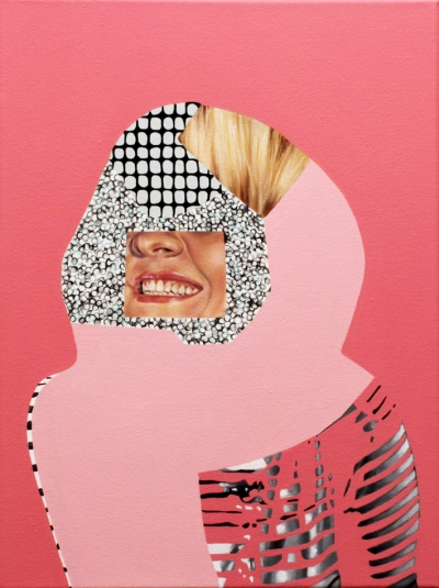 "Jennifer Nehrbass, ""pink portrait"", Öl auf Leinwand, 41x30 cm, 2016"