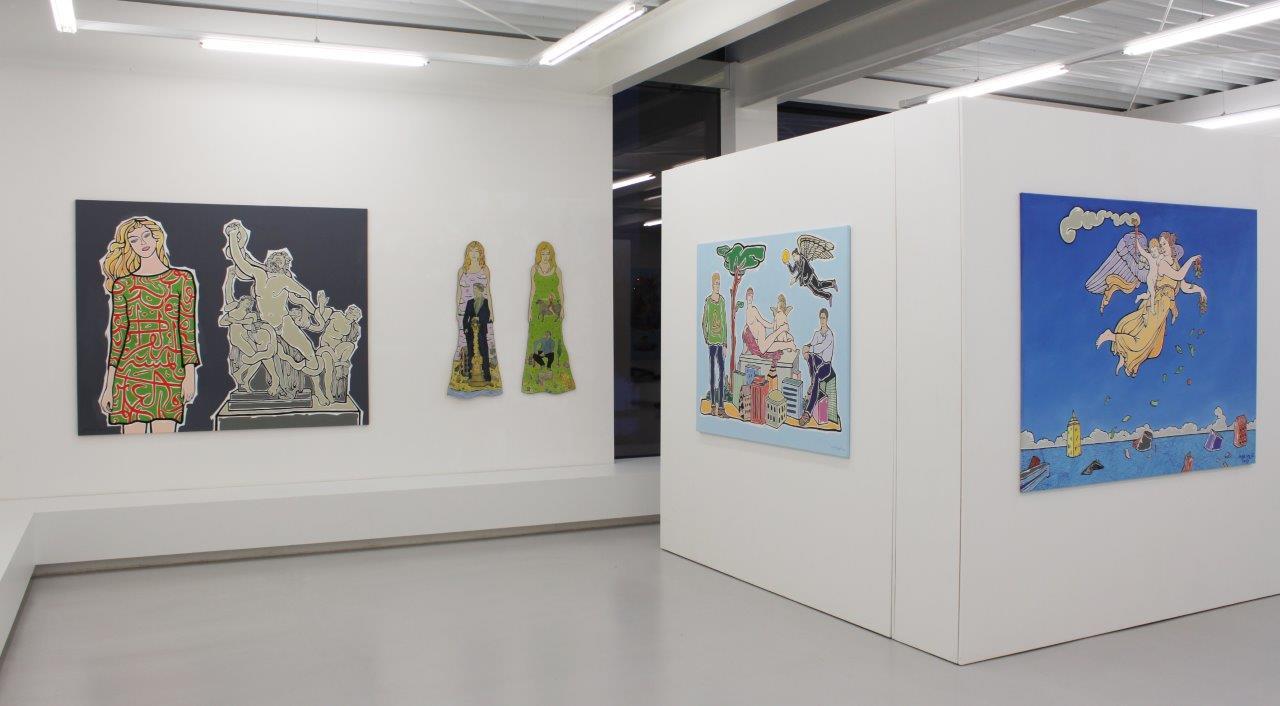 Moritz Götze und Grita Götze, Lexikon der Wunder, Ausstellungsansicht Brunnhofer Galerie, 2017