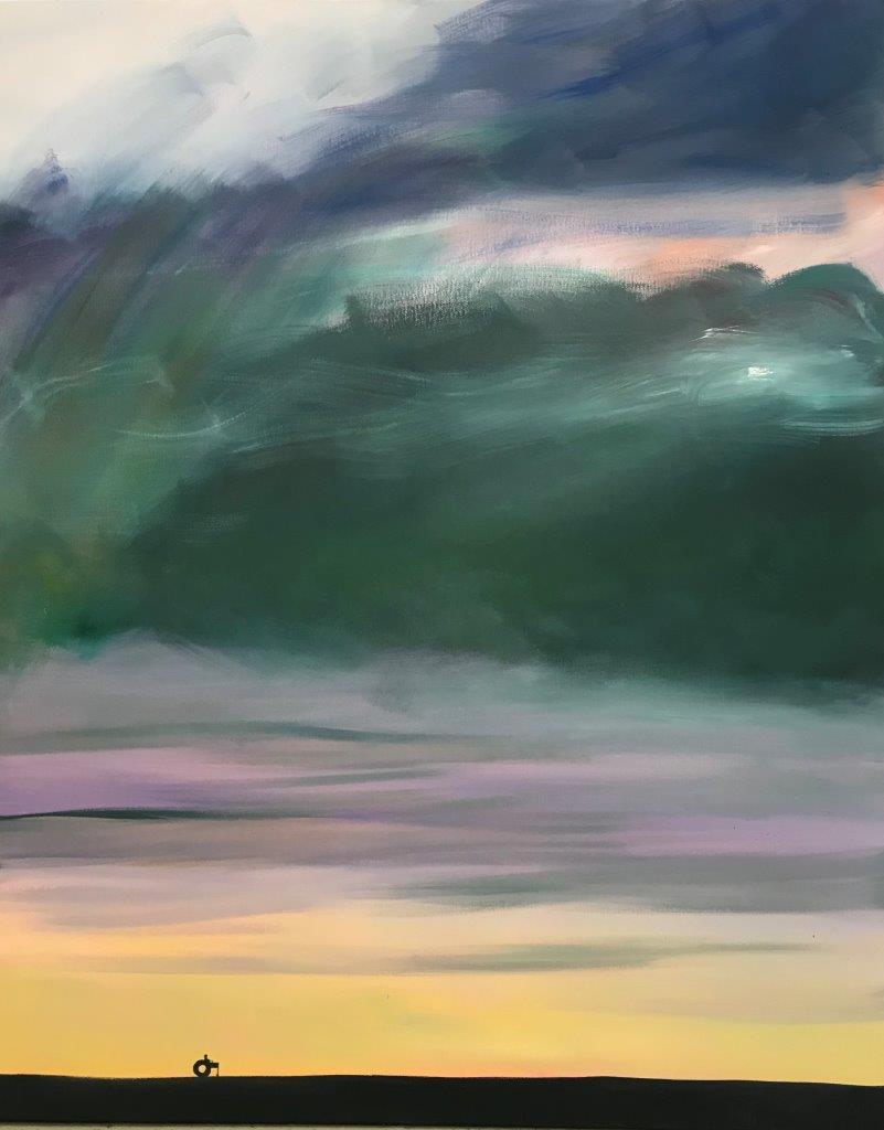 """Ronald Kodritsch, """"stanley road"""", Öl auf Leinwand, 100 x 80 cm, 2019"""