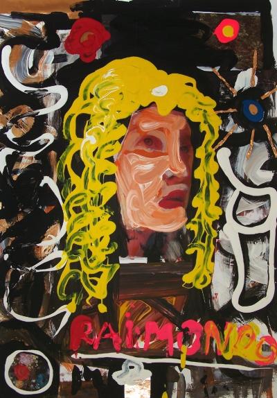 Oliver Kropf, RAIMONDO GRAF MONTECUCCOLI, 70 x 50 cm, Collage - versch. Materalien auf Karton, 2016/ 17