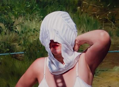 """Jennifer Nehrbass, """"Serving Lucinda"""", Öl auf Leinwand, 97x132cm, 2010"""