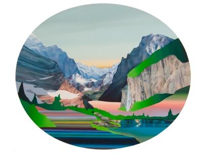 """Jennifer Nehrbass, """"An Ocean in a River"""", Öl auf Leinwand, 91x76cm, 2012"""