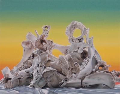 "Jennifer Nehrbass, ""Nineteen Temptations"", Öl auf Leinwand, 56x71cm, 2011"