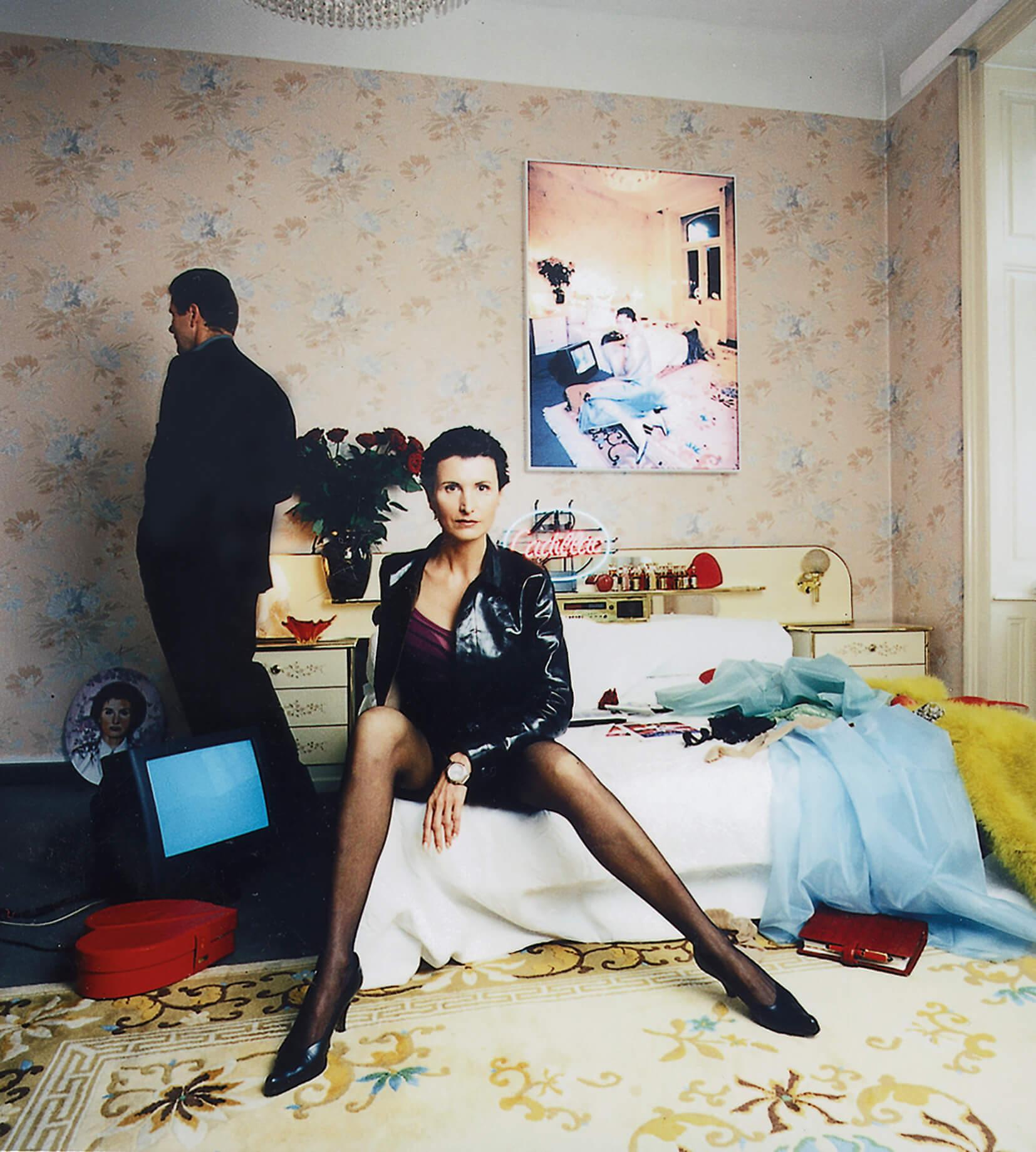 "Matthias Herrmann / Irene Andessner, ""Hotel Urania"", Leuchtkasten 30 x 30 cm, 2002"