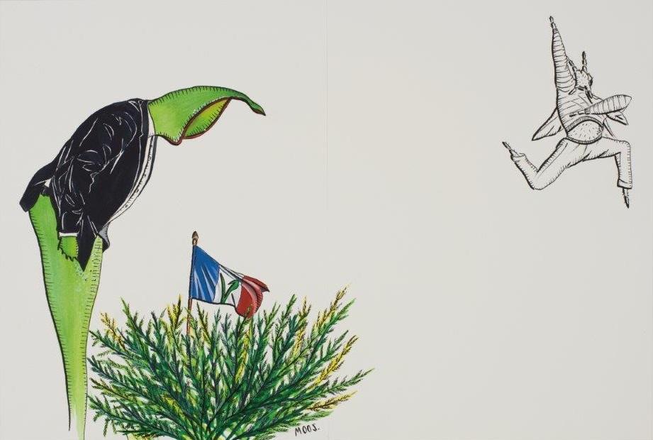 "Deborah Sengl, ""Fiffy + Maurice, Blatt9, Aquarell, 28 x 42 cm"