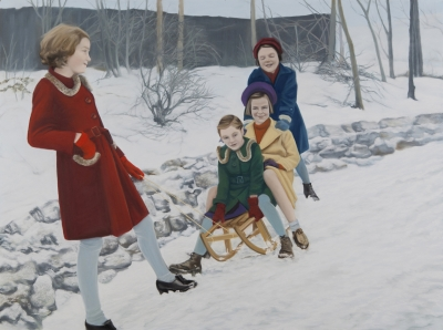 Diana Rattray, Snowtime, 2012, Pastell, 100 x 136 cm