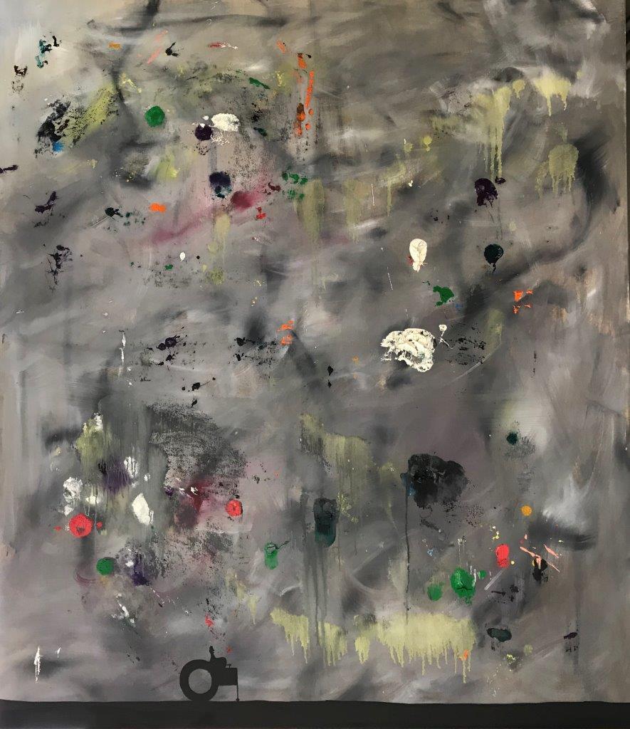 """Ronald Kodritsch, """"Stanley road"""", Öl auf Leinwand, 140 x 120 cm, 2019"""