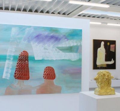 Ronald Kodritsch, Der Satz ist im Bild, Ausstellungsansicht Brunnhofer Galerie