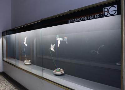 INDRA., Time Birds, Ausstellungsansicht Brunnhofer Galerie