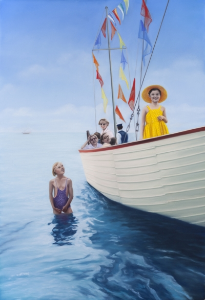 Diana Rattray, All Hands On Deck, 2011, Pastell, 165 x 112 cm