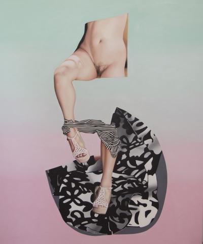 "Jennifer Nehrbass, ""Aphrodite"", Öl auf Leinwand, 122x102 cm, 2015"