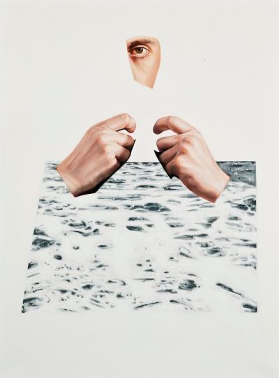 "Jennifer Nehrbass, ""slow wake vanishing"", Öl auf Leinwand, 40,6x30,5 cm, 2016"