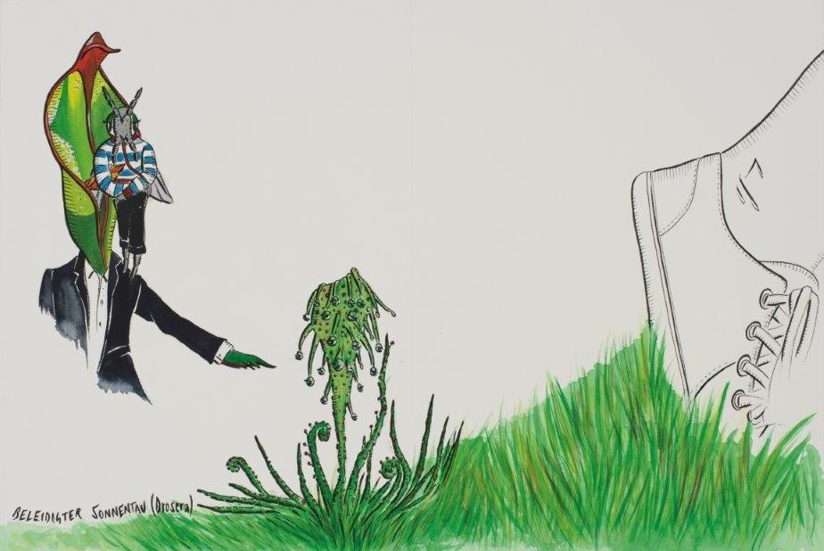 "Deborah Sengl, ""Fiffy + Maurice, Blatt 3, Aquarell, 28 x 42 cm"