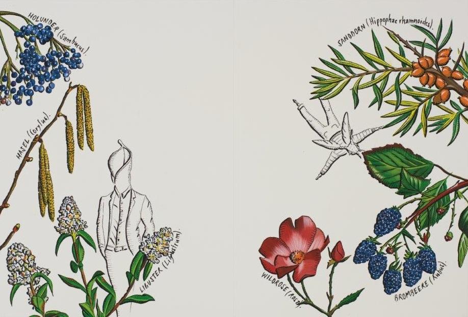 "Deborah Sengl, ""Fiffy + Maurice, Blatt 8, Aquarell, 28 x 42 cm"