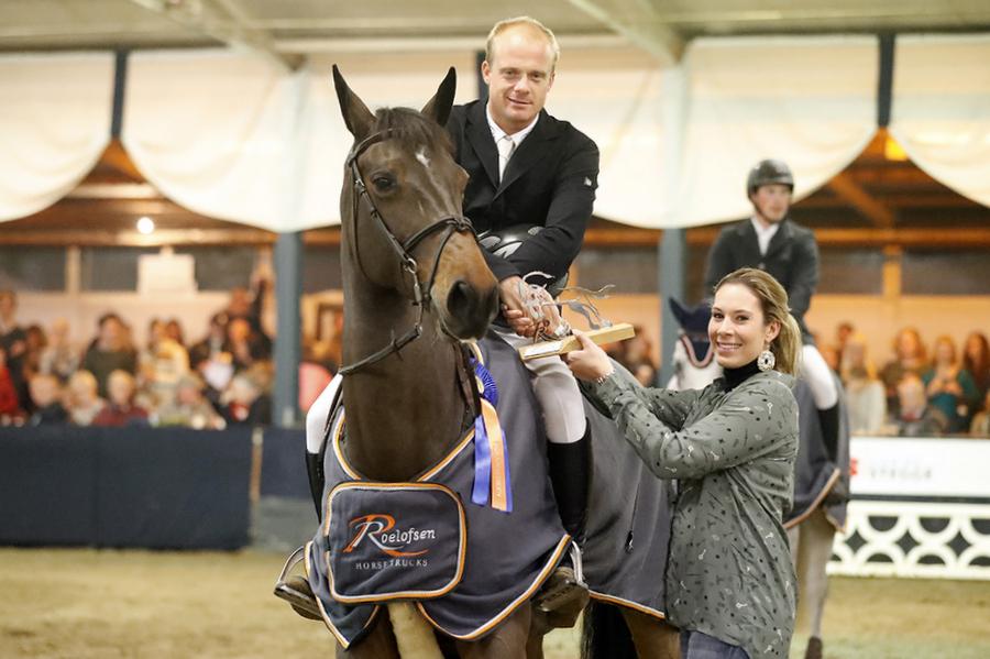 Willem Greve met Formidable (v.Carambole), winnaars van de Roelofsen Horsetrucks Prijs. Foto FotoTrailer